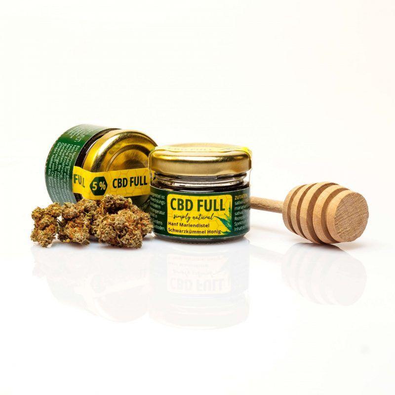 CBD Full Honig 5% - mit Mariendistel und Schwarzkümmel