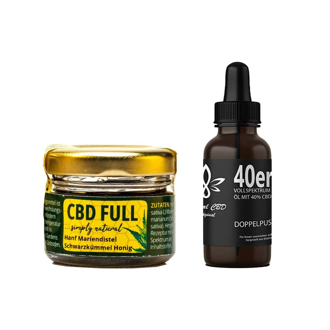 CBD Pain Relief Set - Hochprozentiges Vollspektrum CBD Öl mit CBD Full Honig